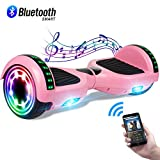 CBD 6.5' Hoverboard w/Bluetooth Speaker, Self Balancing Hoverboard for Kids with LED Lights, UL 2272 Certified Bluetooth Pink Hoverboard