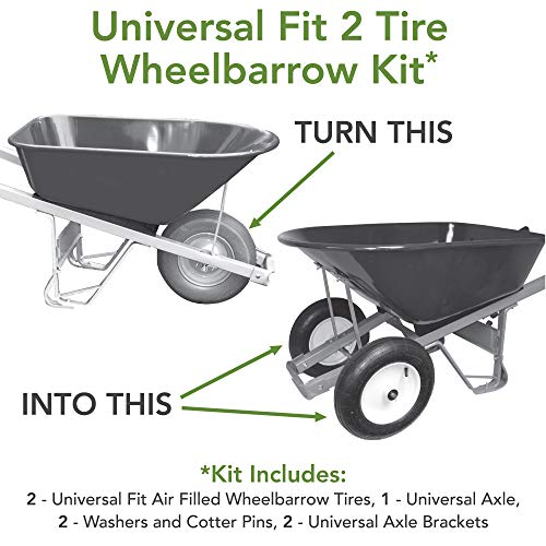 Marathon Two Tire Wheelbarrow Conversion Kit
