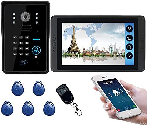 Timbre inalámbrico, Portero de Video Inteligente Impermeable, tecla táctil de 7'Sistema de intercomunicación de la Puerta de Video LCD de Video LCD Wth IR Cámara Código de Cámara Kit de Entrada de la
