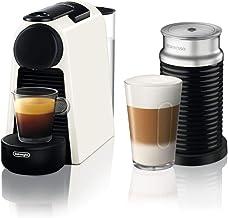 Nespresso Essenza Mini Coffee Machine with Aeroccino, White by Delonghi