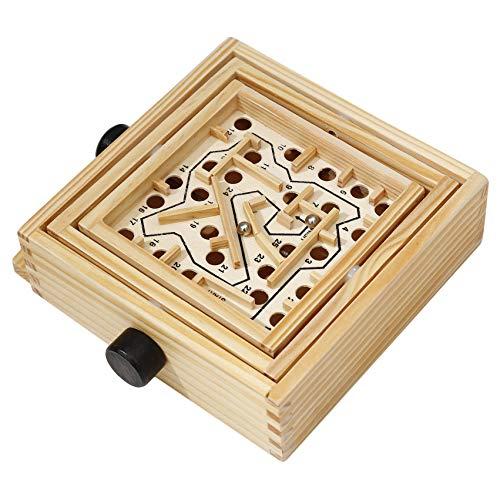 LPOQW Labyrinth Murmeln Spielzeug Lernspielzeug für Kinder Holz Labyrinth Spiel Ball Labyrinth Puzzle Handgefertigtes Spielzeug für Kinder, S.