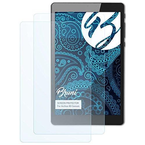 Bruni Schutzfolie kompatibel mit Archos 80 Cesium Folie, glasklare Bildschirmschutzfolie (2X)