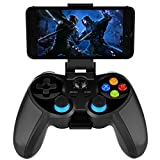 Xin Hai Yuan Controlador De Juegos Inalámbrico 4.0 Terios T3 / X3 para PS3 / Android Smartphone Tablet PC con TV Box Holder T3 + Soporte Remoto Bluetooth