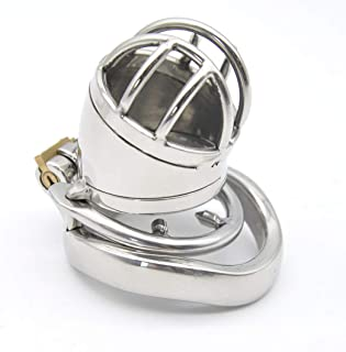 HZB toys Short Stainless Steel Offset-Proof Chastity Lock/Arc Clasp for Men Fun Toy T-Shirt Trousers