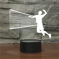 バレーボール3Dステレオナイトライト7色充電リモートコントロール装飾ライトに触れる