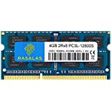 Rasalas 4GB DDR3 PC3-12800 DDR3 1600 MHz SODIMM RAM PC3L 12800S DDR3 4GB 2Rx8 1.35V CL11 Notebook RAM Memory Modules for Intel AMD and Mac Computer