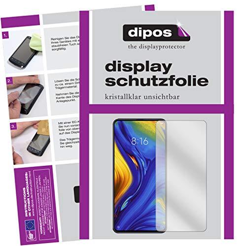 dipos I 2X Protetor de Tela para Xiaomi Mi Mix 3 Película Protetora de Cristal