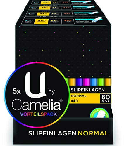 U by Camelia Slipeinlagen Normal, 5er Pack (5 x 60 Stück)