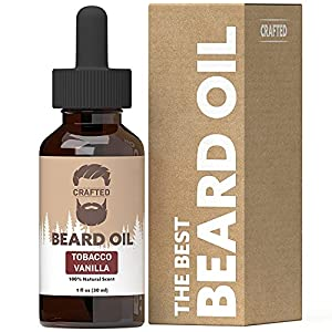 Best Beard Oil for men – Crafted Beard Oil Conditioner - Tobacco Vanilla Scent – All Natural Beard Oil and Mustache Oil… 1