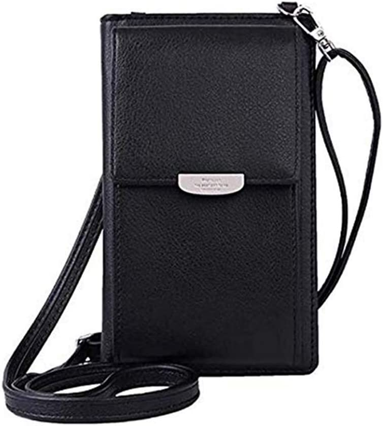 Women Crossbody Purse Bag with ID Window Credit Card Phone Holder Case Pouch Wallet for iPhone 12, 11, 12 Pro, 11 Pro, XR/Galaxy S20 A20e A10e A01 Note 10, S10 / Pixel 5, 4, 4a, 3a / Moto G7 Play