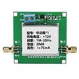 ASHATA Module d'Amplificateur RF LAN Carte d'Amplificateur de Signal à Large Bande DC12V LAN, Faible Bruit 1-3000MHz, 20dBm pour HF/VHF/UH