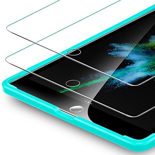 ESR Schutzfolie [2 Stück] Kompatibel mit iPad 2018 Panzerglas für iPad 9,7 2017 Model, Bildschirmschutzfolie für iPad Air 2 / Air, Bildschirmschutz für iPad Pro 9.7 / iPad 6 Generation -mit Montage Werkzeug