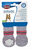 Trixie 19502 Hundesocken, Anti-Rutsch, S–M, 2 St., grau
