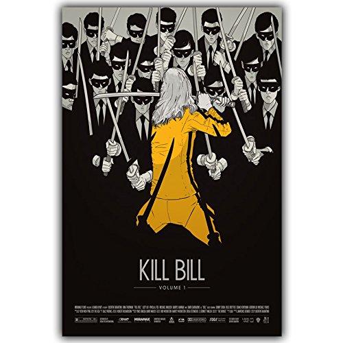 Mengyun Store Imágenes De La Película Kill Bill Poster Classic Popular Decoración para El Hogar Poster Canvas Print Decoración De La Pared Sin Marco J367 (40X50Cm)