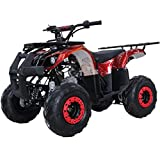 X-PRO Kids ATV 4 wheelers for Sale 125cc ATV Quad Four Wheelers Youth ATV 4 wheelers with Remote Control,Big 16'' Tires with Gloves, Goggle and Handgrip (Spider Red)