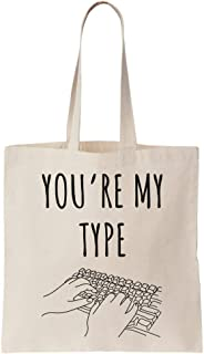 You Are My Type Keyboard Artwork Canvas Tote Bag Bolsa Tote