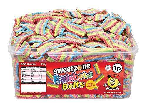 SweetZone 100% Halal Rainbow Belts Candy zonder varkensgelatine 1 kg