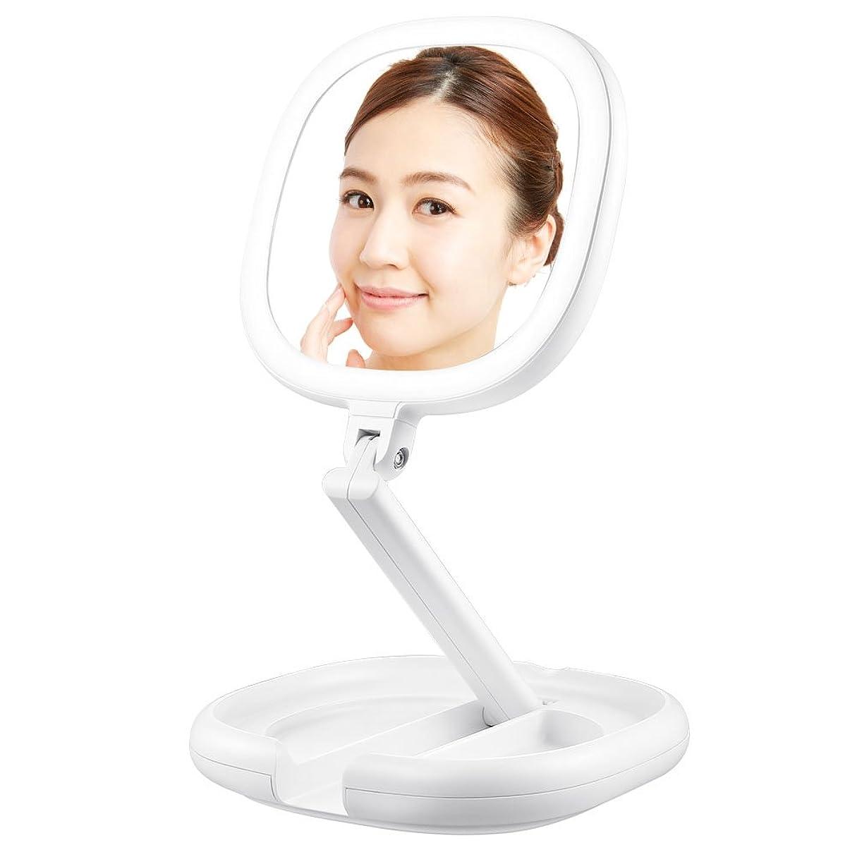 商品不測の事態障害Lavany 拡大鏡 化粧鏡 両面鏡 ledライト付きミラー 卓上鏡 BM-1716