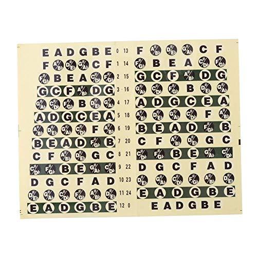 Gitaar Fretboard Note Sticker, Muzikaal Vingerbord Schaal Label, Gids Melodie Schaal Stickers voor Beginner, Leren Gitaar, Klassieke Editie 12 × 9,5 cm