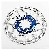 SHHMA Rotor de Freno de Disco de Bicicleta Disco Flotante Ultraligero Pastillas de Freno de Seis Clavos Accesorios de Disco de Freno de Disco de 160 mm para Bicicleta de montaña de Carretera,Azul