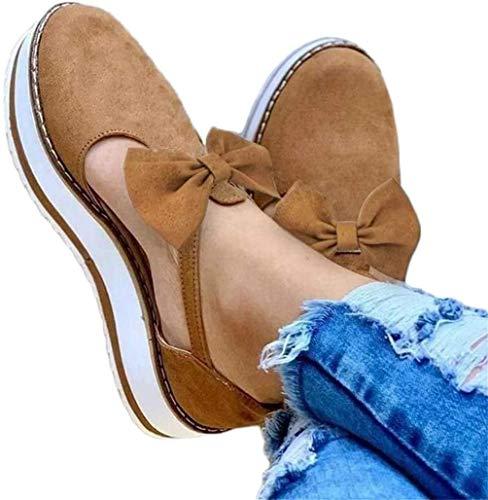 JSONA Women's Platform Sandals Orthopedic Comfortable Soft PU Leather Sandals Flip Flops Summer Beach Travel Walking Slippers Shoes for Big Toe Bone Correction Women & Girls,Purple,40
