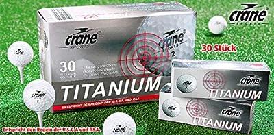 Golfbälle 30 Stück Titanium