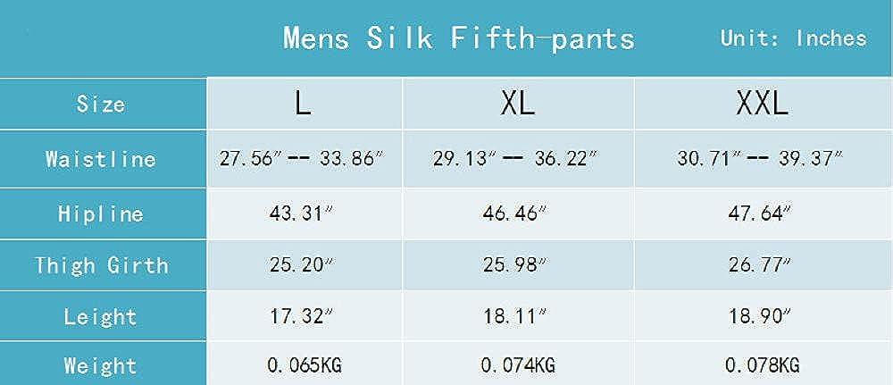 Men's Satin Pajamas Pyjamas Pants Male Casual Lounge Short Pants Vintage Print Sleep Bottoms