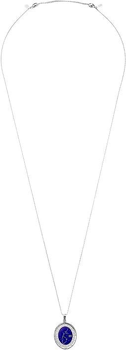 Celestial Wheel Aquarius Constellation Necklace