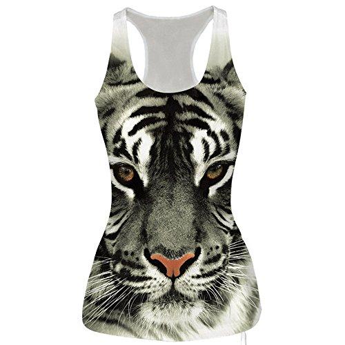 Camiseta de Tirantes para Mujer,Lenfesh Las Mujeres 3D Impresión Crop
