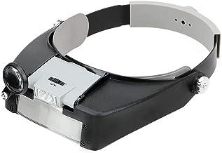 NOPNOG Hoofdband type loep, kunststof, met LED-licht, voor juweel en horloge, 1,5 x 3 x 8,5 x 10 x (grijs)