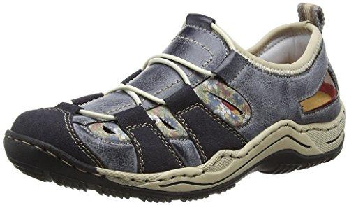 Rieker Damskie buty sportowe L0561, niebieski - Niebieski Navy Atlantic chabry beżowy 14-38 EU