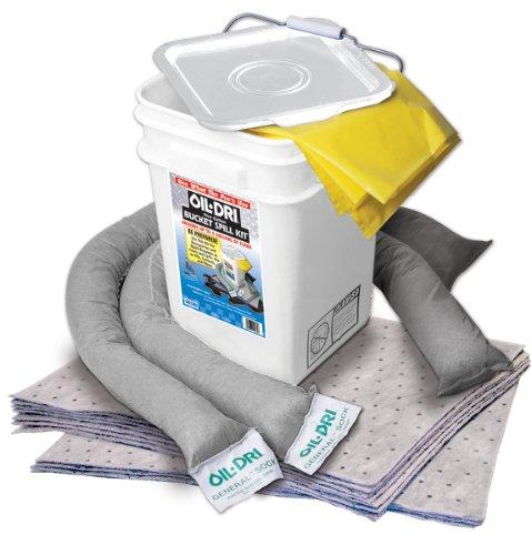 Oil-Dri L90435 Compact Universal 5-Gallon Bucket Spill Kit, 5-Gallon Maximum Absorption Capacity