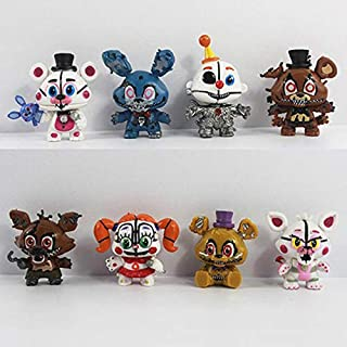 TIKIDA 8 Pcs/Set New Dy Mini Action Figure 5-6Cm PVC Five Nights at DYS Bear Anime Figurines Model Toys Must Haves for Kids Gifts Girls Favourite Characters Superhero
