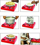 COOKWELL Small - Portable - Light Weight Electric Hot Plate Low Power Consumption 200 watts to 900 watts, Temparature 50°c to 350°c with Automatic Thermostat Strong - Durable - Reliable