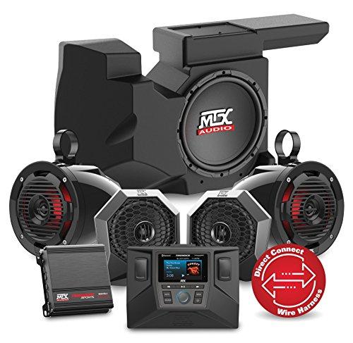 MTX Audio 2014 to 2017 Polaris Polaris RZR XP1000 or 900 Four Speaker, Dual Amplifier, and Single Subwoofer Audio System RZRSYSTEM3