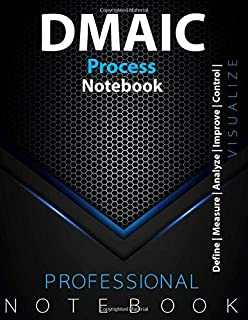 DMAIC Process Notebook, Kanban Vision/Task Board, Define   Measure   Analyze   Improve   Control  , Manage your Project, V...