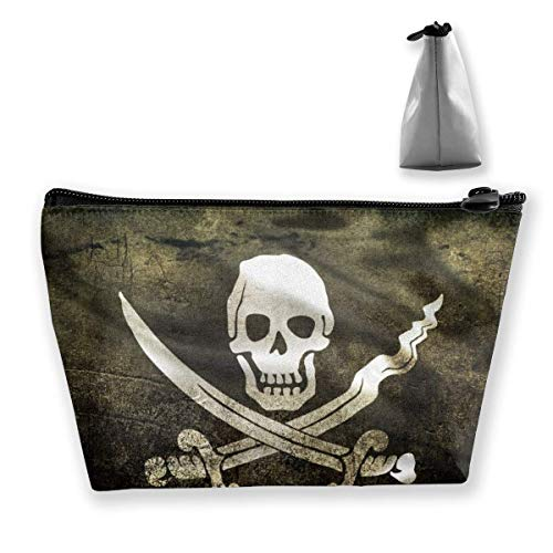 Pirate Skull Flag Trapezoid Travel Cosmetic Storage Pouch Pochette