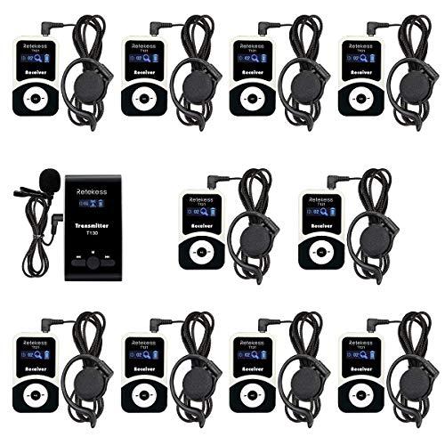 3. Retekess T130 99 Channel Tour Guide System Wireless