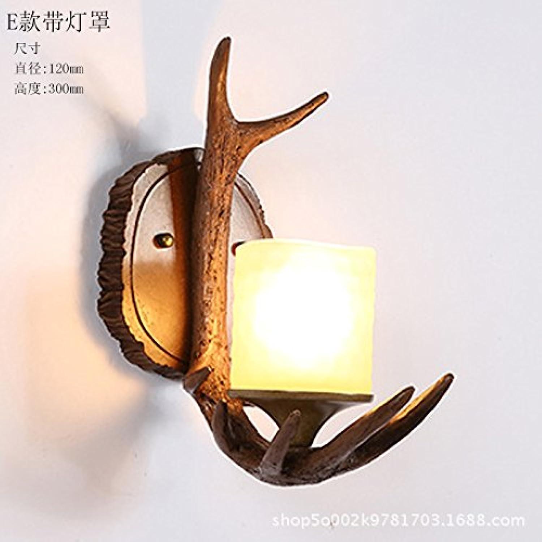 StiefelU LED Wandleuchte nach oben und unten Wandleuchten Antikes Bett wand Lampen Geweih wand Lampen Wohnzimmer Arbeitszimmer hotel Schlafzimmer, 7.
