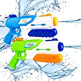 Water Guns,SHARKOOL 2 Pack Water Play Squirt Guns Water Soaker Guns Super Water Blaster 600CC Water Fighting Play Toys for Kids Summer Swimming Pool Beach Sand Backyard Outdoor Gifts for Adults