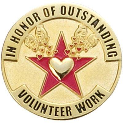 In Honor of Outstanding Volunteer Work Lapel Pin - Pack of 10