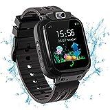 Vannico Smartwatch Niño, Reloj Inteligente Niña Ip68, LBS SOS Llamada Bidireccional, Smartwatch Phone con Voice Chat Cámara Juegos Compatible para Android e iOS (Negro)