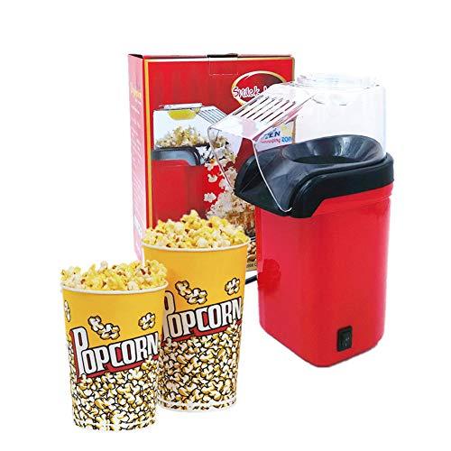 AZCSPFALB Máquina de Palomitas de Maíz Gourmet para Adultos y Niños Popcorn Maker con Capa Antiadherente,Automática Máquina de Palomitas Aire Caliente,Sin Grasa,Fácil Almacenamiento y Limpieza