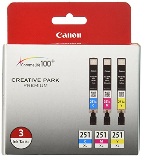 Canon CLI-251XL 3 Color Multi Pack Compatible to MG6320, iP7220, MG5420, MX922, MX722, MG7120, MG6420, MG5520, iX6820, iP8720, MG7520, MG6620, MG5620