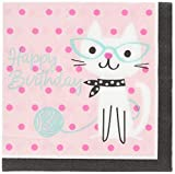 """Creative Converting Purr-Fect Party Luncheon Napkins Party Supplies, Multicolor, 5"""""""