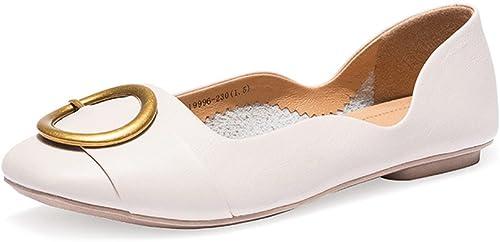 XZGC and Student Komfort Flache Schuhe Quadratischen Kopf Flach Mit& Mit& Mit& 039;s Fashion Damen Schuhe  authentische Qualität