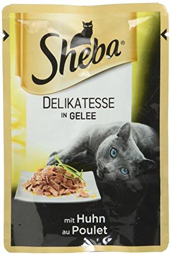 Sheba Delikatesse in Gelee – Hochwertiges Katzenfutter – Im praktischen Portionsbeutel – Alleinfuttermittel