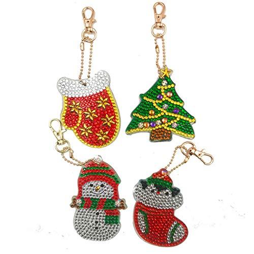 LUCOG Perceuse complète 5D Bricolage Diamant Peinture Porte-clés Porte-clés Porte-clés pendentifs 4 PC Arts, Artisanat et Couture Onsale