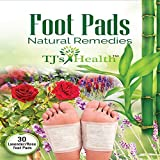 TJ's Health Organic Sleep Foot Pads | 30 Rose & Lavender feet Patches to aid Natural Sleep | Clarity Within