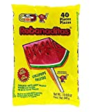 Dulces Vero Vero Rebanadita Paletas Sabor Fresa Con Chile Mexican Hard Candy Chili Pops 40 Pc